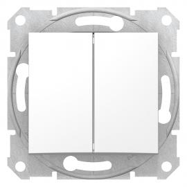 SDN0600121 INTRERUPATOR DUBLU CAP SCARA 10A IP20 ALB
