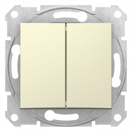 SDN0600147 INTRERUPATOR DUBLU CAP SCARA 10A IP20 BEJ