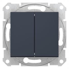 SDN0600170 INTRERUPATOR DUBLU CAP SCARA 10A IP20 GRAFIT
