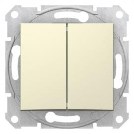 SDN0300147 INTRERUPATOR DUBLU 10A 250VAC IP20 BEJ