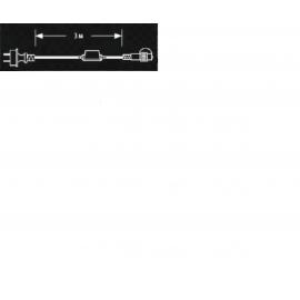 DD-9014 STECHER ALIMENTARE GHIRLANDE CU CABLU NEGRU 3M